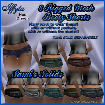 FREE PROMO - Iffyta Sami's Solids Booty Mesh Jean Shorts