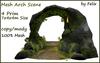 4 prim mesh stone arch scene by felix 7x4x4m size copy mody