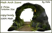 4 Prim Mesh Stone Arch Scene by Felix 7x4x4m Size copy-mody