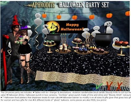 Halloween party set (boxed)
