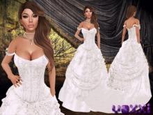 .::voxxi::. Off Shoulder Strap Ball&Wedding Gown Diamonds