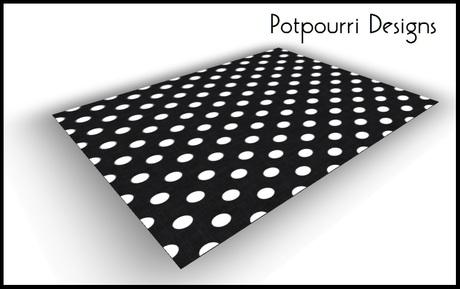 Black White Polka Dot Rug