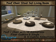 Pouf Stool Chair - Living Room - brown * Special Price Limited Time *