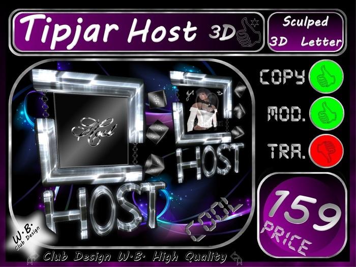 Host Tip jar 8 >> Tip jar Host 3D  <<