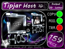 Host Tip jar 8 >> Tip jar Host 3D  <<