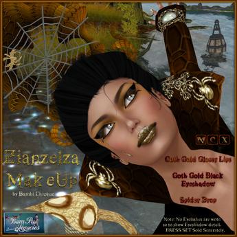 BC~Zianzelza Witch Goth MakeUp Golden