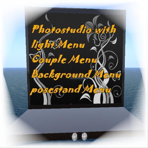 **Promo Price 99 L$**Photostudio Menu Driven with light and couple menu