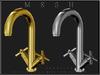 T-3D Creations [ Faucet No.2 - Silver / Gold ] MESH - Full Perm -