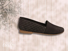 tulip. Studded Loafers (Coal - MESH)