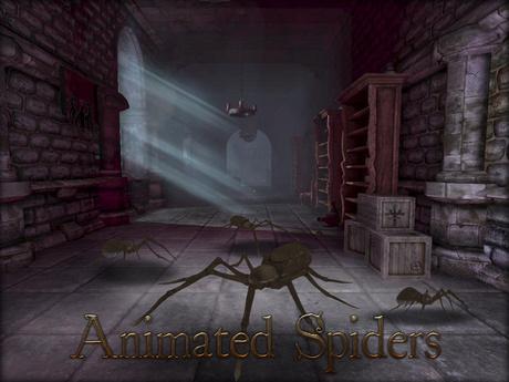 Boudoir Halloween-Animated Spiders
