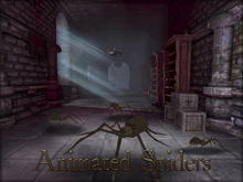 Boudoir Halloween-Animated Spiders