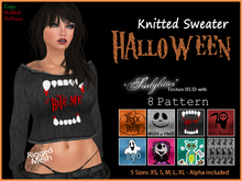 *Soulglitter* Knitted Sweater - Halloween