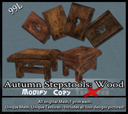 [LH] Autumn Cottage Stepstools - Wood