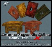 [LH] Autumn Cottage Stepstools - Colors