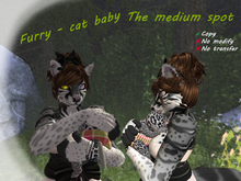 Furry - cat baby. The medium color