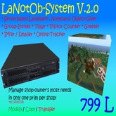 LaNotOb-System V.2.0 - Landmark-, Notecard-, Object-Giver, Tipjar, Greeter, Online Tracker, Visitor