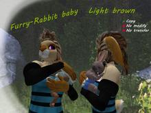 Furry-rabbit baby. Light brown