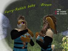 Furry-rabbit baby. Brown