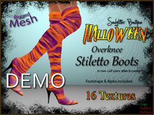 DEMO *Soulglitter* Stiletto Boots - Halloween Edition