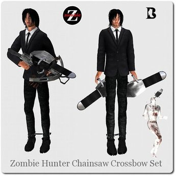 Blackburns Zombie Hunter Mesh Chainsaw Crossbow Set