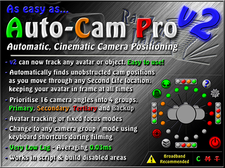 Auto Cam Pro v2 - Automatic, cinematic camera positioning hud!