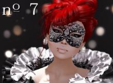 no. 7 Gin MAKEUP mask tattoo