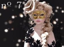 no. 7 Kin MAKEUP mask tattoo