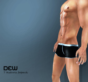 """DEW"" Low rise boxers (simple colors)"