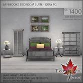 Trompe Loeil - Baybrooke Bedroom Suite Gray PG [mesh]