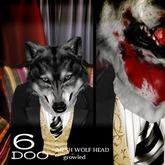 *6DOO* wolf head growled