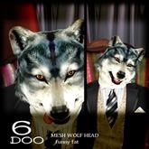 *6DOO* wolf head funny fat