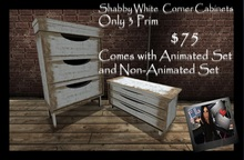 Corner Furniture (Animated & Non-Animated) Shabby White