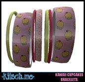 kitsch me - Kawaii Cupcake Bangle Bracelets dollarbie