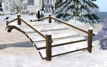 Winter in SL: Sculpted Snowy Bridge, 16 steps  = 3 prim
