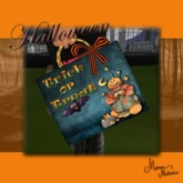 Halloween Trick or Treat pumpkin bag