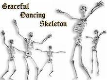Graceful Dancing Skeleton - Animated Halloween