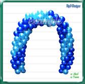 Arco Globos & Balloon Arch (blue dark light) Dollarbie