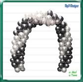 Arco Globos & Balloon Arch (black white) Dollarbie