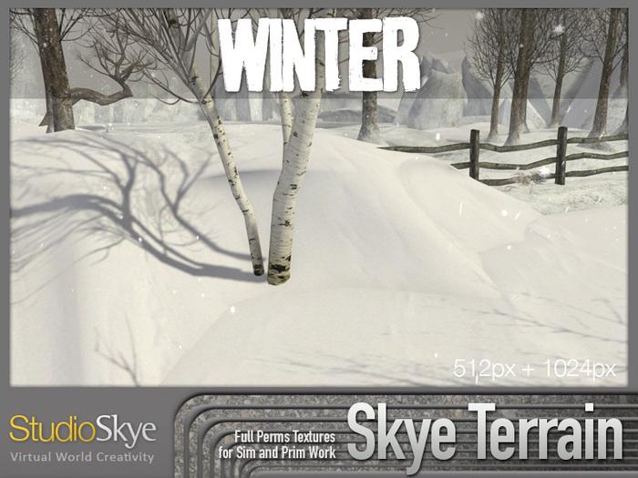 Skye Terrain Textures - Winter Snow and Ice - Full Perms Terrain Textures
