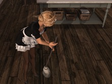 Dutchie mesh bucket with mop: 2 versions, wearable and decorational