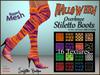 *Soulglitter* Mesh Overknee Stiletto Boots - Halloween Edition
