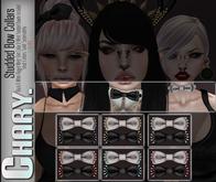 - Chary - Studded Bow Collars (BLACK)