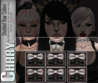 - Chary - Studded Bow Collars (SILVER)