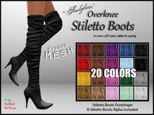 *Soulglitter* (20 colors) Mesh Overknee Stiletto Boots FATPACK