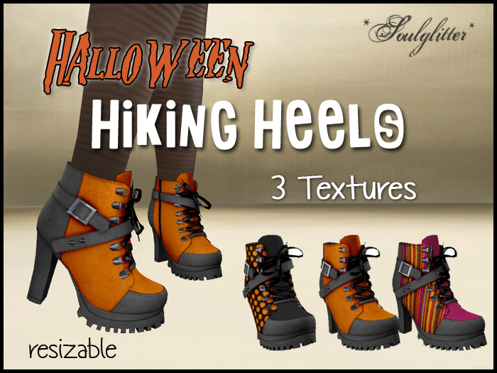 *Soulglitter* Hiking Heels - Halloween