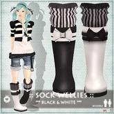 ::LEO-NT:: SOCK WELLIES [black&white]
