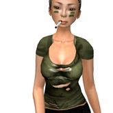top ripped green - almost free clothes!