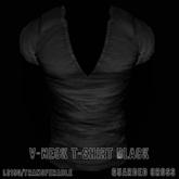 * Guarded Cross * V-Neck T-Shirt Black
