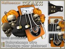 ::KAZ:: Halloween pumpkin skull ipod arm band leather