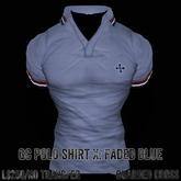 * Guarded Cross * GC Polo Shirt X: Faded Blue